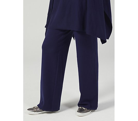Frank Usher Wide Leg Knit Trouser with Stretch Waistband