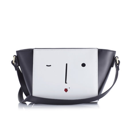 Lulu Guinness New Face Pixie Polished Leather Crossbody Bag