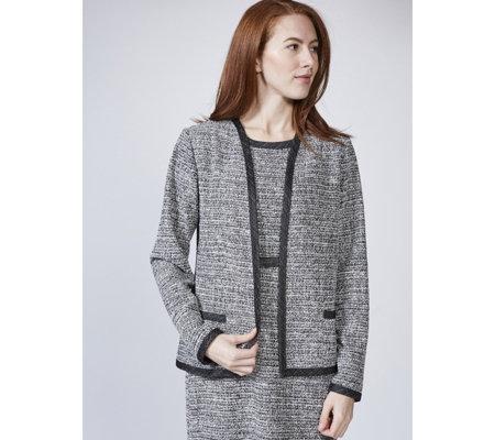 Kim & Co Fine Boucle Long Sleeve Jacket
