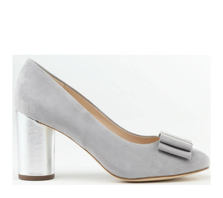 Peter Kaiser Osilia Suede Court Shoe with Bow Trim
