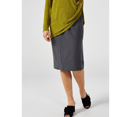 Kim & Co Ponte Crepe Knit 4 Panel Skirt