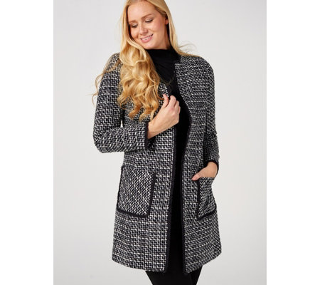 Helene Berman Edge To Edge Jacket with Patch Pockets