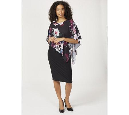 11a1b7b5e7028 Grace Chiffon Overlay Midi Dress - QVC UK