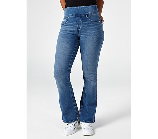 Diane Gilman 5 Pocket Pull On Bootcut Regular Jeans