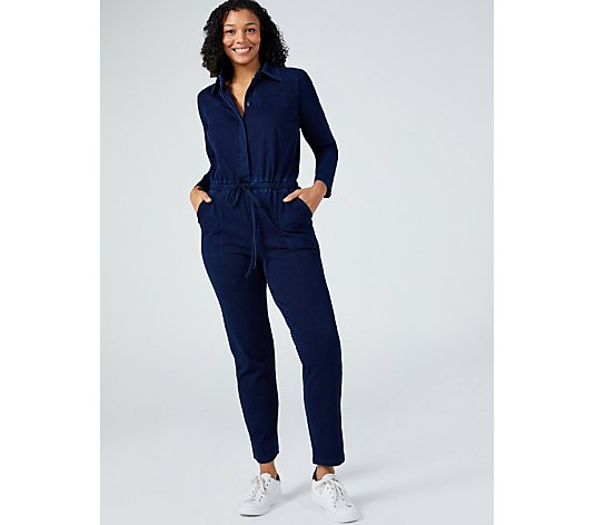 Women with Control Prime Stretch Denim Jumpsuit Regular