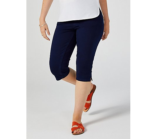 Denim & Co. Comfy Knit Smooth Waist Skimmer Crop Trousers