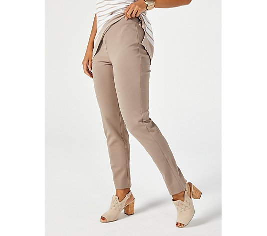WynneLayers Ponte Slim Leg Pull On Ankle Trousers