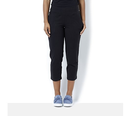Women with Control Crop Trousers with Pockets