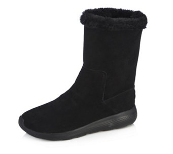 Skechers On The GO City 2 Suede Faux Fur Mid Calf Boots - 167418