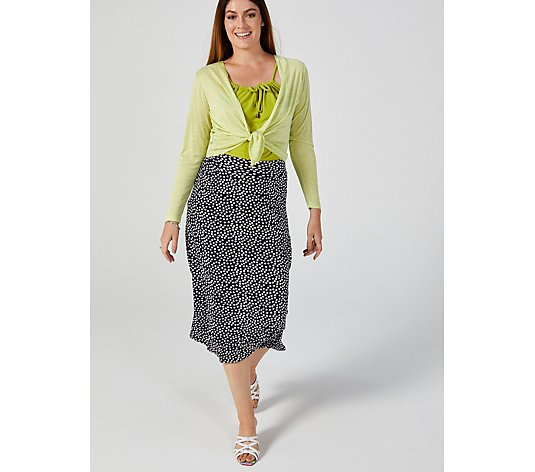 Kim & Co Dancing Dots Brazil Jersey Skirt with Pockets