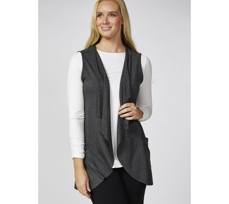 Mr Max Ultra Soft Knit Sleeveless Duster with Pockets
