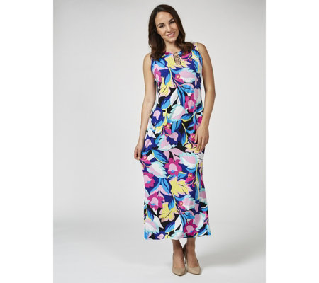Coco Bianco Printed Jersey Maxi Dress Regular