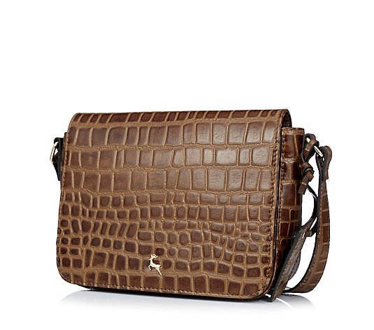 Outlet Ashwood Leather Flapover Crossbody Bag