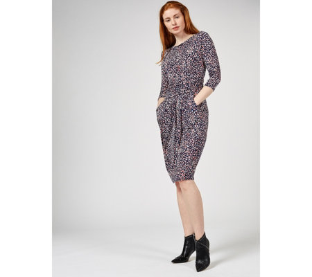 Sydney 3/4 Sleeve Midi Dress by Onjenu London