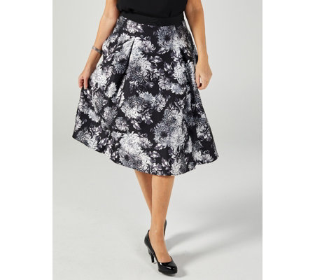 Isaac Mizrahi Live Special Edition Printed Ball Skirt