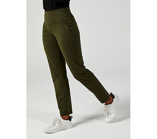 Women With Control Tummy Control Straight Leg Trouser with Pockets
