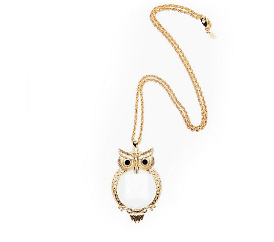 Kim & Co Magnifying Owl Necklace