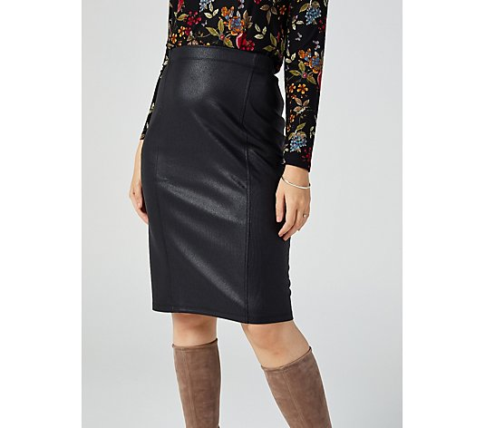 Kim & Co Croco Pleather Skirt