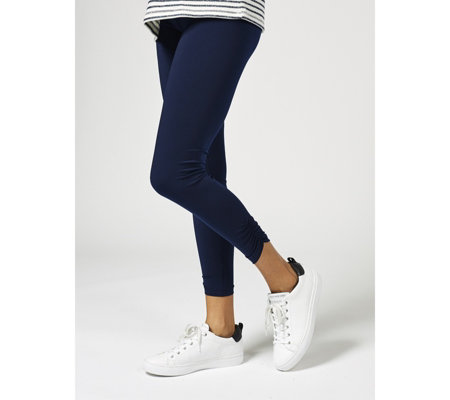 Kim & Co Brazil Jersey Leggings with Shirring Detail