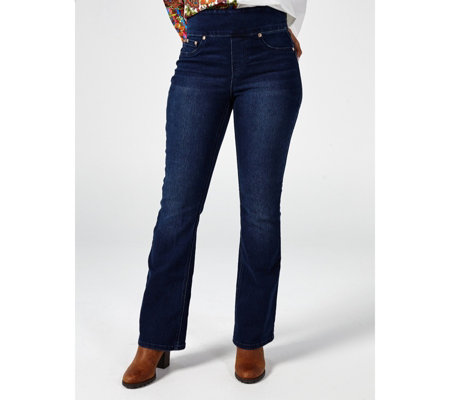 Diane Gilman 5 Pocket Pull On Bootcut Tall Jeans