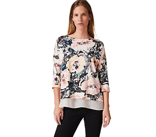 Phase Eight Olena Rose Double Layer Top