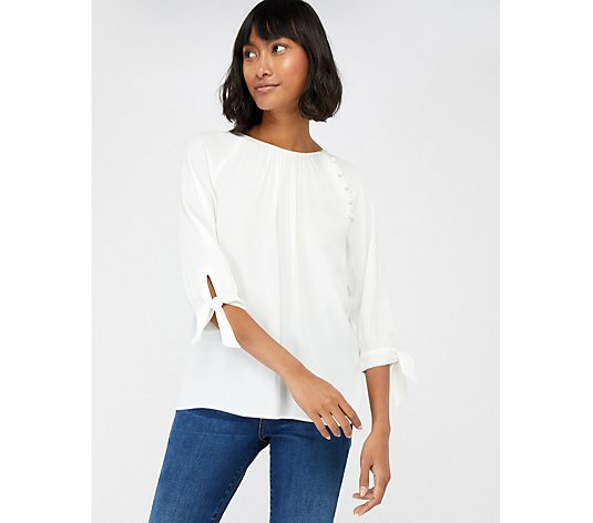 Outlet Monsoon Josiah Tie Sleeve Blouse