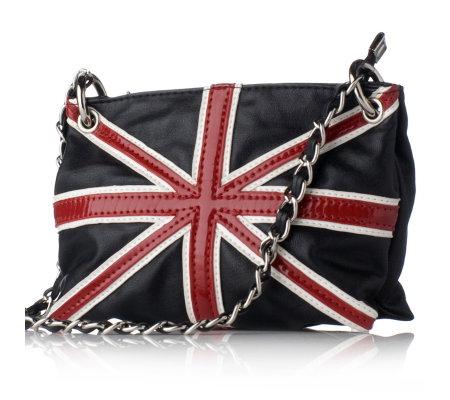 Butler Amp Wilson Small Pvc Union Jack Chain Handle Bag Qvc Uk