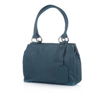 Amanda Lamb Leather Triple Pocket Grab Bag - 169220