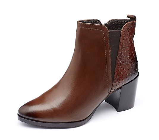 Outlet Moda in Pelle Kaylie Chelsea Ankle Boot