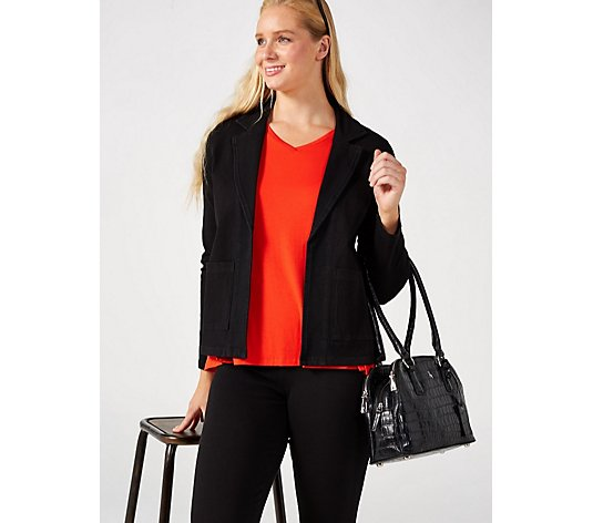 Outlet Women with Control Prime Stretch Denim Blazer