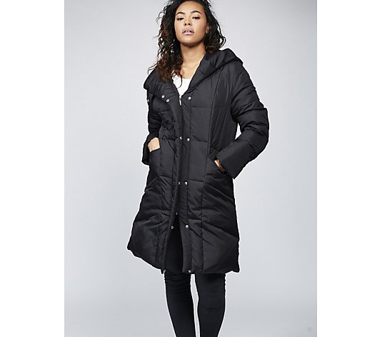 Outlet Centigrade Machine Washable Feather & Down Hooded Coat
