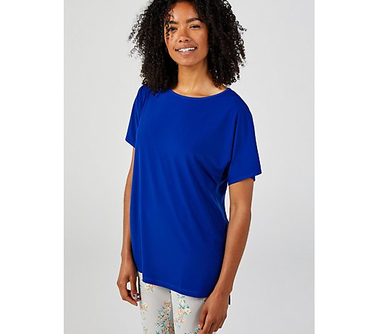 Kim & Co Brazil Jersey Falling Sleeve Tunic with Side Slits