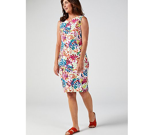 Ronni Nicole Floral Printed Sleeveless Twill Dress