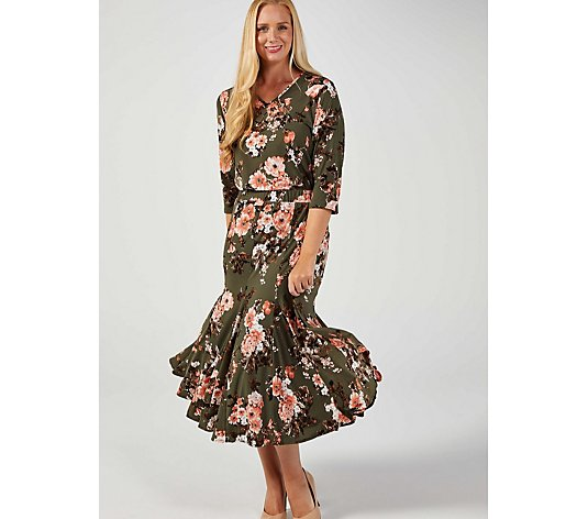 Orchid Rose Swing Hem Tunic by Michele Hope
