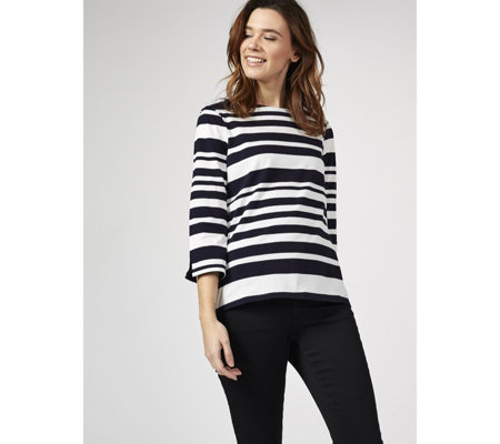 Phase Eight Tanith Stripe Top with Contrast Stripe Detail