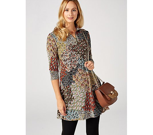 Coco Bianco Printed Knit Dress with Zip