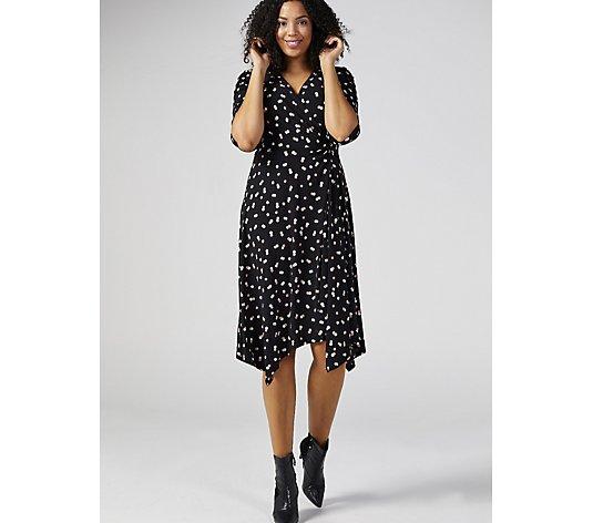Ronni Nicole Puff Print Knot Front Dress