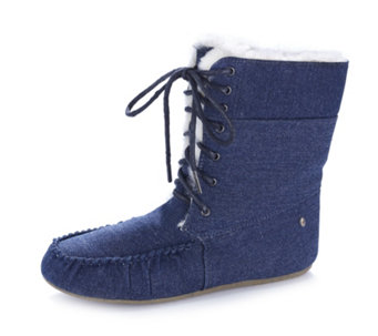 Emu Brooklyn Denim Slipper Boots - 160122