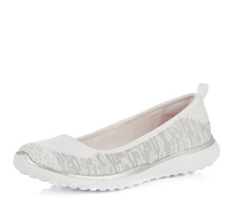 Skechers Made You Look Metallic Skimmer Slip On Shoe with Memory Foam - 164722