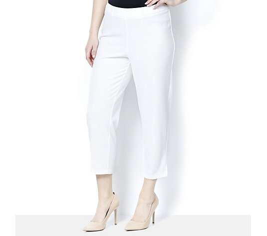Crepe Cropped Trousers by Nina Leonard