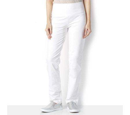 Women with Control Tummy Control Slim Leg Petite Trousers