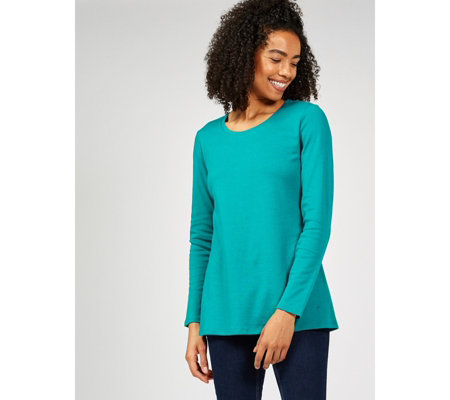 Isaac Mizrahi Live Long Sleeve Round Neck Top