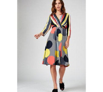 86cac773ed7 Phase Eight Pauline Stripe   Spot Dress - 178422