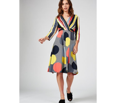 Phase Eight Pauline Stripe & Spot Dress