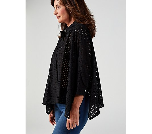 WynneLayers Eyelet Unstructured Shirt