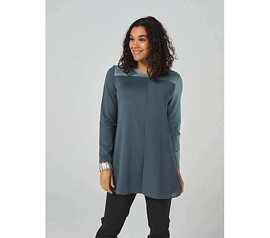 WynneLayers Luxe Knit Colourblock Long Sleeve Tunic