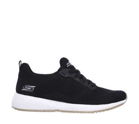 Skechers Bob Squad Photo Frame Knit Lace Up Trainer