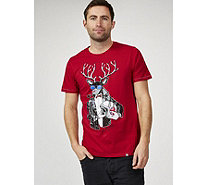 Joe Browns Men's Biker Dolph Christmas T Shirt - 170523