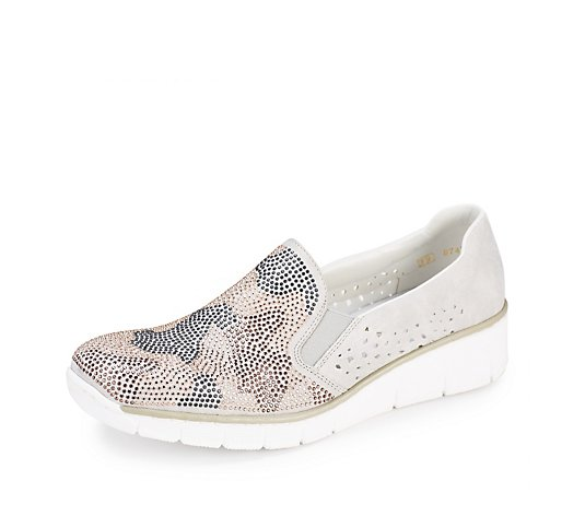 Rieker Slip On Trainer with Wedge Heel