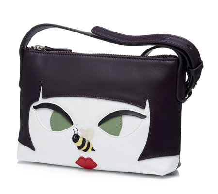 Lulu Guinness Marie Bee Stung Girl Crossbody Bag